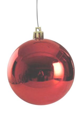 Christmas Ball 200mm Glossy Red