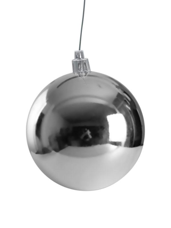 Christmas Ball Silver Glossy