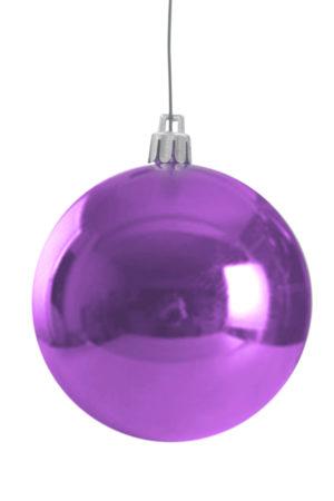 Christmas Ball 50mm Glossy Purple