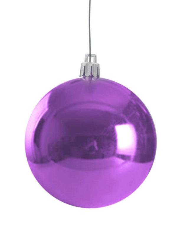 Christmas Ball Glossy Purple
