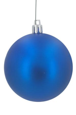 Christmas Ball 70mm Matt Blue