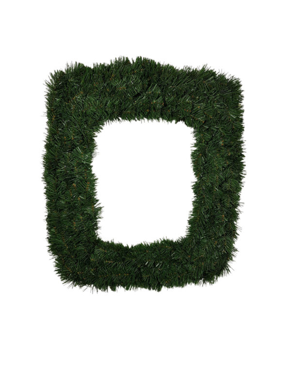 24 inch Wreath Rectangular 61cm