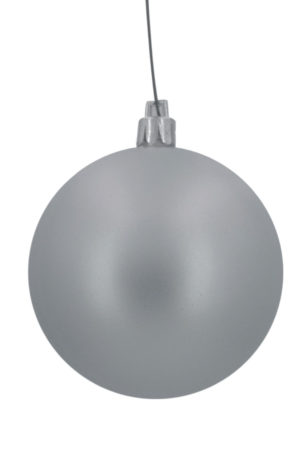 Christmas Ball 70mm Matt Silver