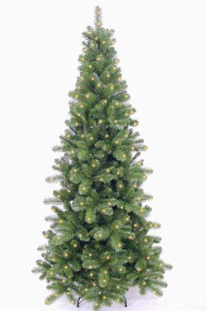 7.5ft Pencil Pine Christmas Tree Hinged Pre Lit 2.28