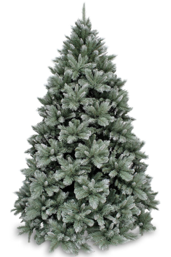 7.5ft  New Hampshire Pine Christmas Tree Blue Green Frosted 2.28m