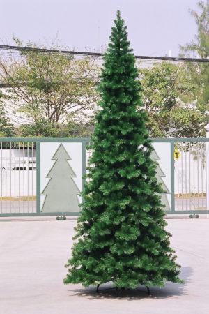 10ft Pencil Pine Christmas Tree Green 3.05m