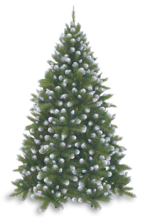 7.5ft Grand Empress Spruce Christmas Tree Frosted Green 2.28m