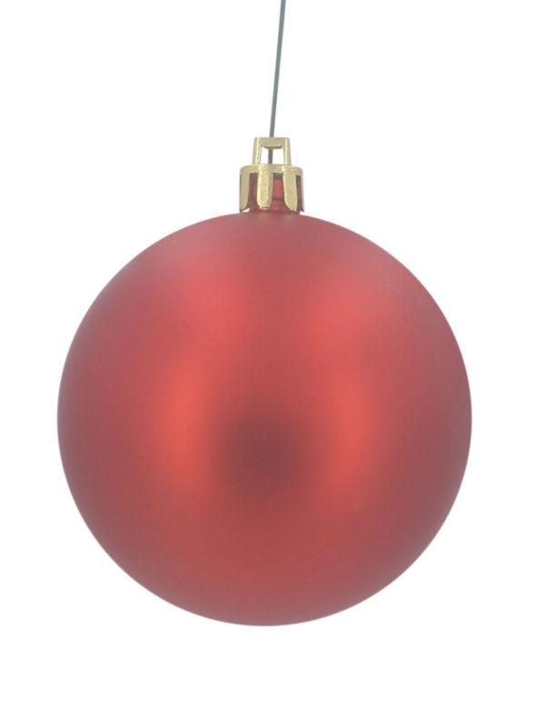 Christmas Ball 100mm Matt Red