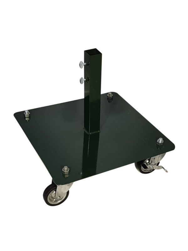 Commercial Tree Stand Flat Base with Castors Green