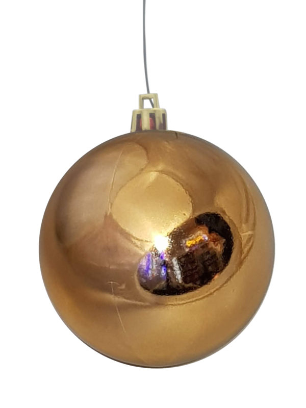 Christmas Ball 70mm Glossy Copper