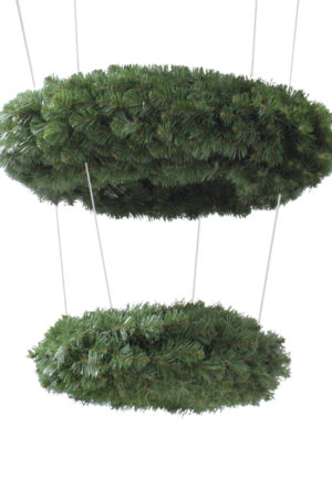 Wreath Hanging 2 Tiered Double Sided Alberta Spruce 91cm + 46cm
