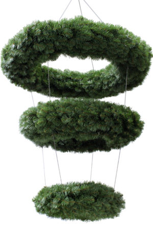 Wreath Hanging 3 Tiered Double Sided Alberta Spruce 122cm + 91cm + 61cm