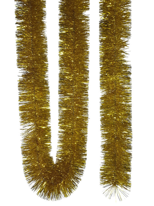 Tinsel 5.5m (18ft) 4 ply – 100mm Gold