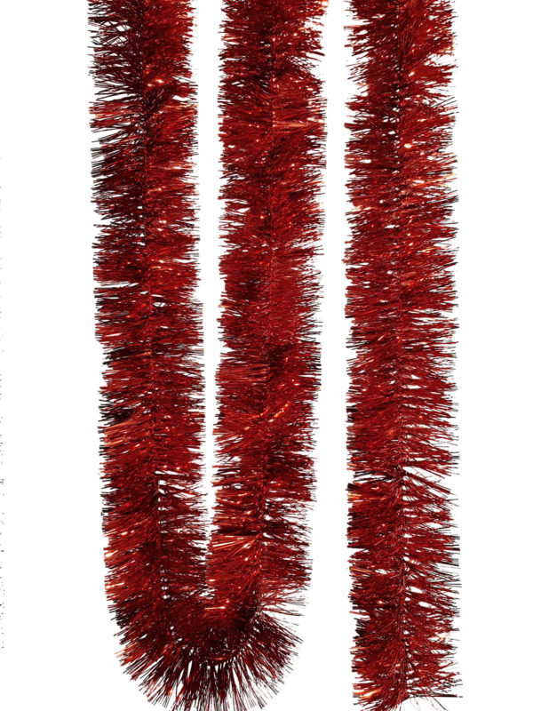Tinsel 5.5m (18ft) 4 ply – 100mm Red