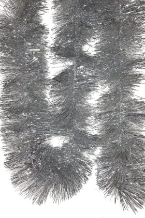 Tinsel 5.5m (18ft) 4 ply – 150mm Silver