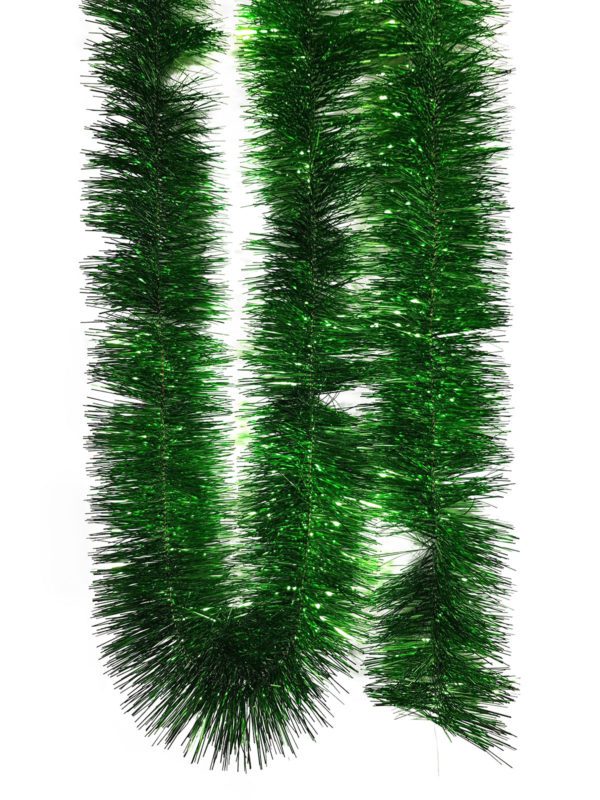 Tinsel 5.5m (18ft) 4 ply – 150mm Green