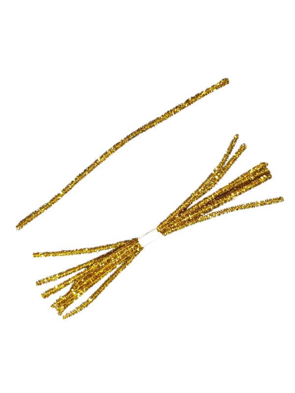Tinsel Tie Gold 10 Pieces