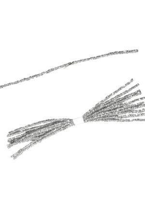 Tinsel Tie Silver 10 pieces