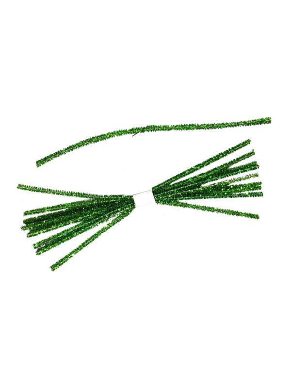 Tinsel Tie Green 10 pieces