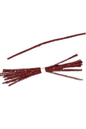 Tinsel Tie Red 10 pieces
