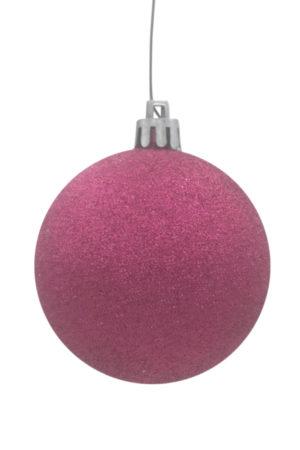 Christmas Ball 150mm Glitter Cerise