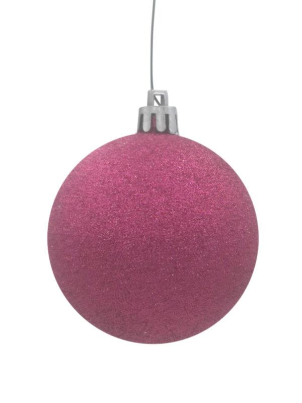 Christmas Ball Cerise Glitter
