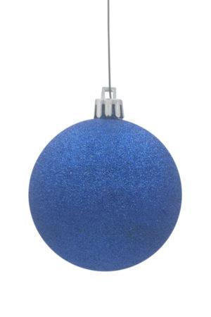 Christmas Ball 150mm Glitter Blue