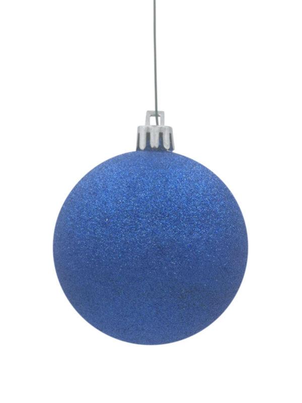 Christmas Ball 70mm Glitter Blue