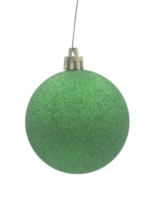 Christmas Ball 200mm Glitter Green