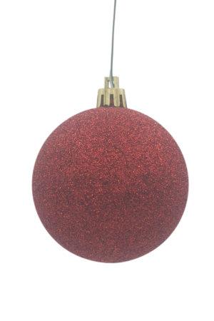 Christmas Ball 150mm Glitter Red