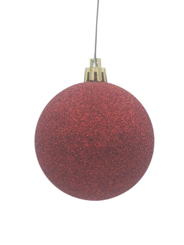 Christmas Ball Red Glitter