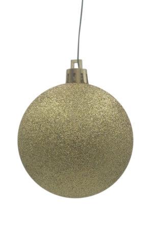 Christmas Ball 150mm Glitter Gold