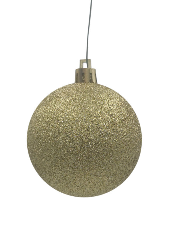 Christmas Ball Gold Glitter