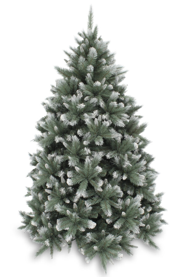 6.5ft New Hampshire Pine Christmas tree Blue/Green Frosted 1.98m