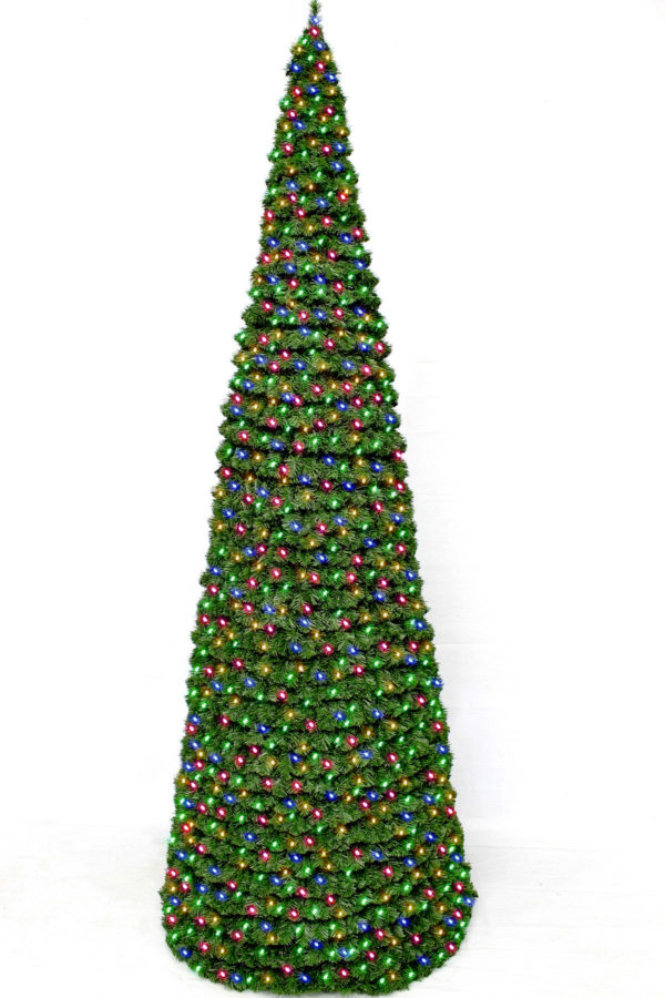 Cone Tree with Multi Colour Lights