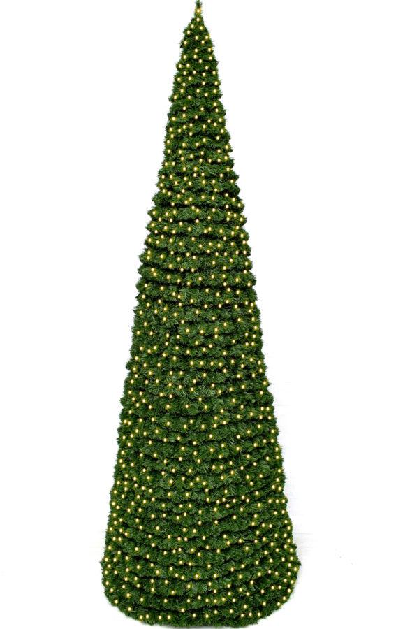 6ft Cone Tree Indoor or Outdoor Modular Pre Lit 1.83m