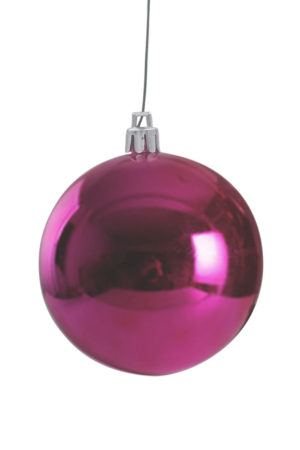 Christmas Ball 50mm Glossy Cerise