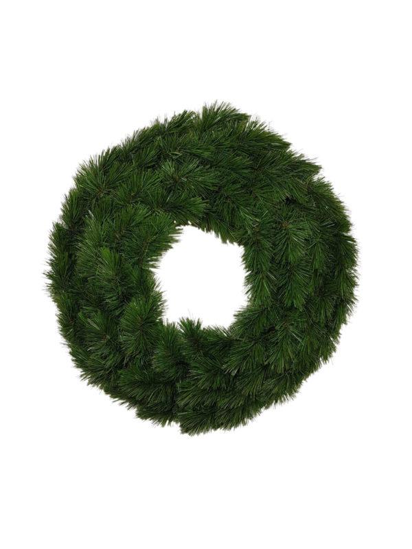 24 inch Pitch Pine Wreath Green 61cm