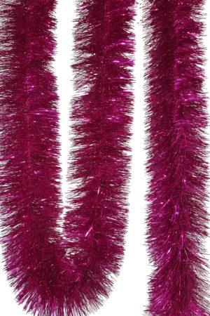 Tinsel 5.5m (18ft) 4 ply – 150mm Cerise