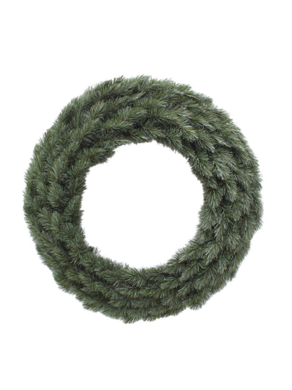 24 inch Pitch Pine Wreath New Growth Blue 61cm
