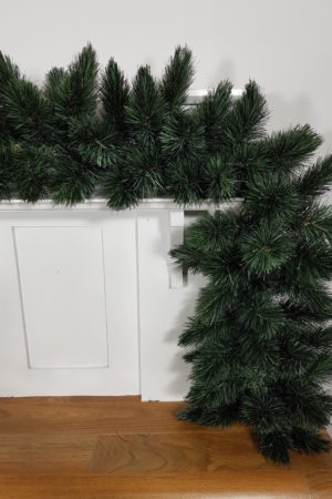 9ft Christmas Garland Pitch Pine New Growth Blue 2.74m
