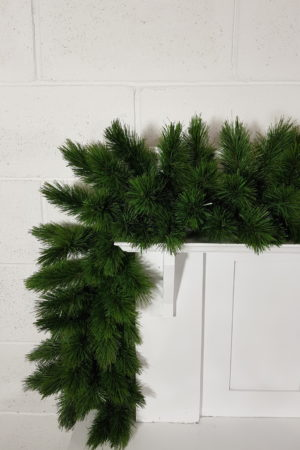 9ft Christmas Garland Pitch Pine Green 2.74m