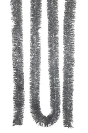 Tinsel 5.5m (18ft) 4 ply – 50mm Silver