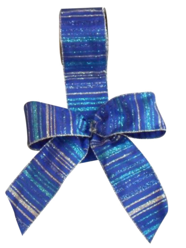 Ribbon Royal Blue Stripes