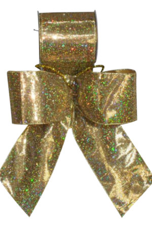 Bow Gold Lame w/ Sparkles 8cm (Pack of 8)