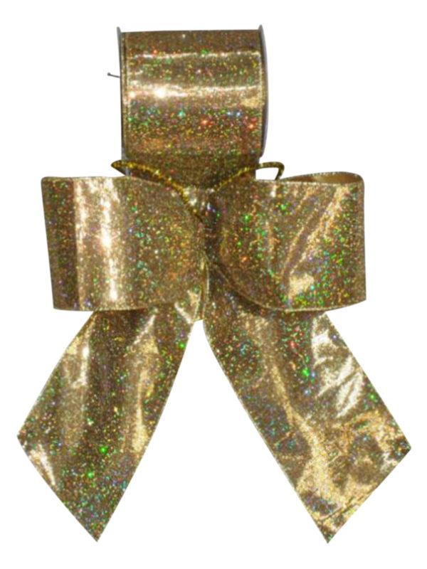 Ribbon Gold Lame' w/ Sparkles 6.5cm