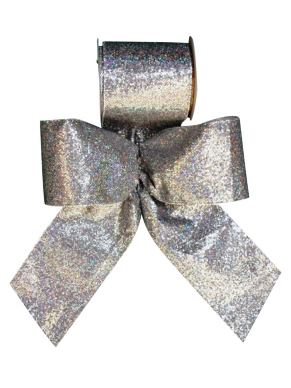 Ribbon Silver Lame' with Sparkles