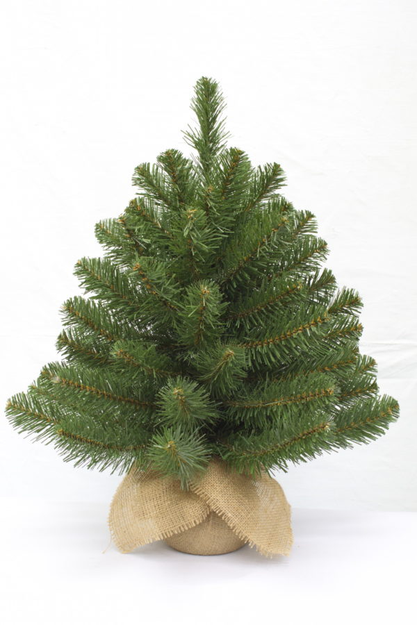 2ft Alpine Spruce Christmas Tree in Burlap covered base 61cm