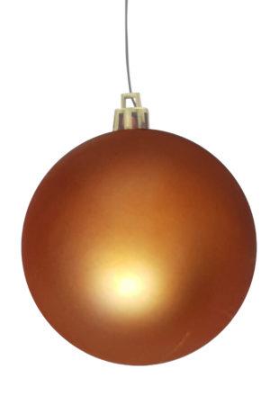 Christmas Ball 70mm Matt Copper