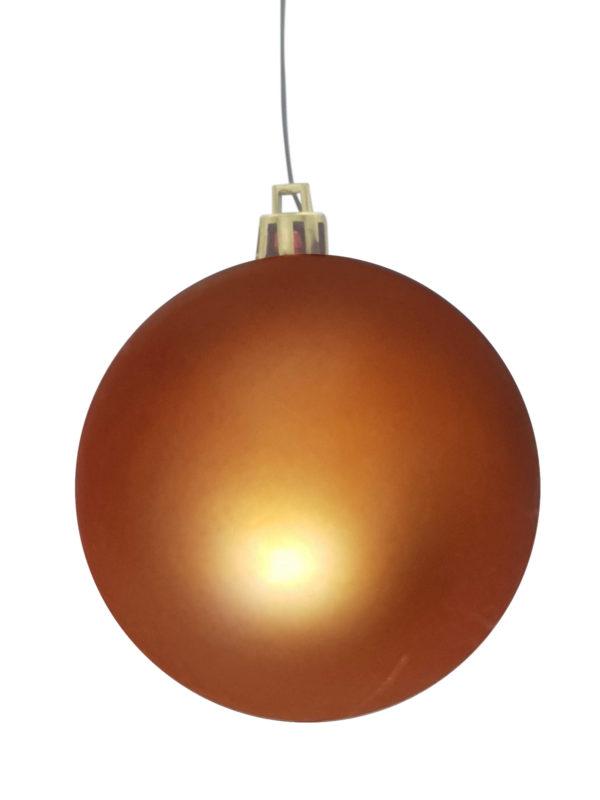 Christmas Ball Copper Matt